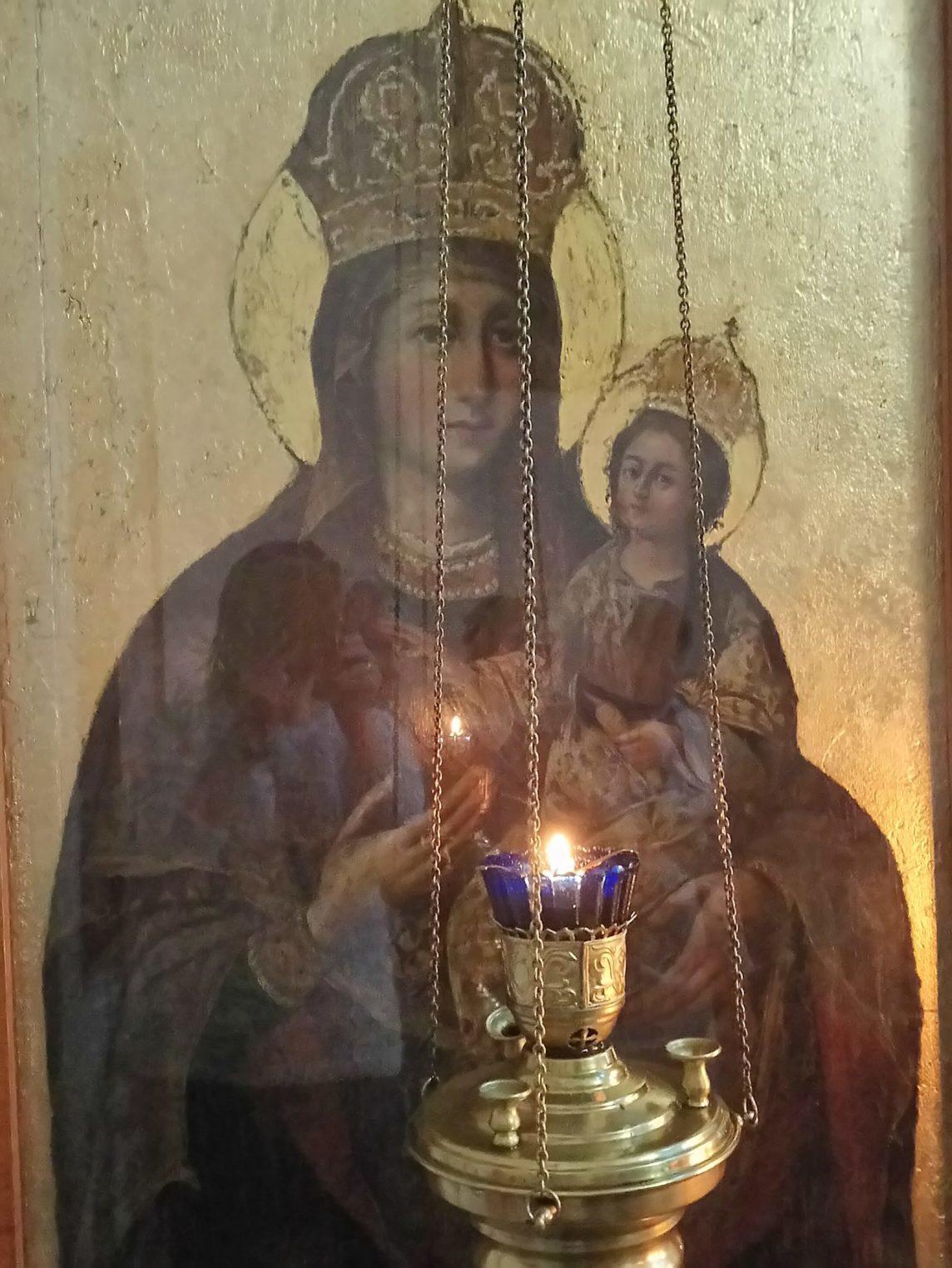 Тихвинский храм в Авдотьино.Тихвинская икона Божией Матери