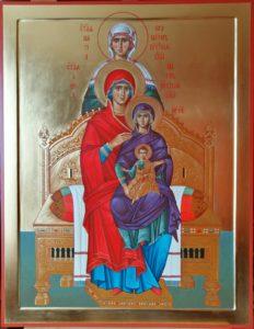 Образ Богородицы с Богомладенцем, а также своими матерью и бабушкой